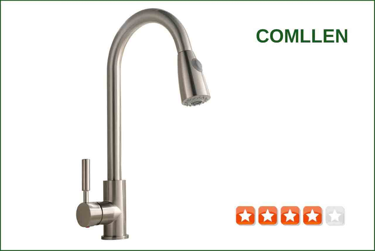 Comllen VH-QYS003N Brushed Nickel Kitchen Faucet