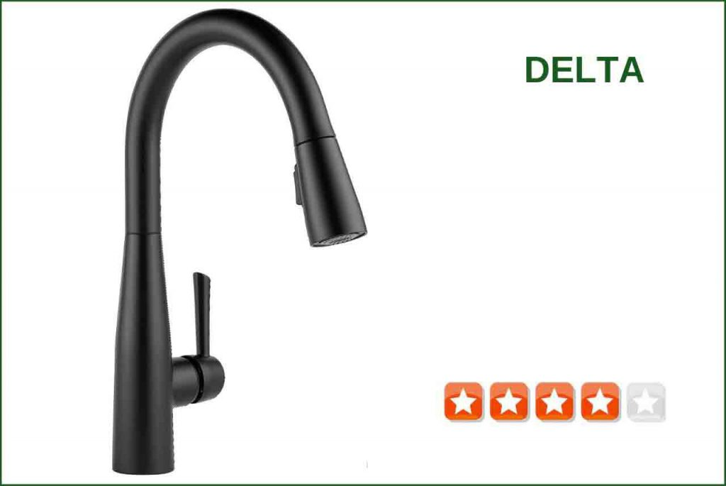 Delta 9113-BL-DST Matte Black Kitchen Faucet