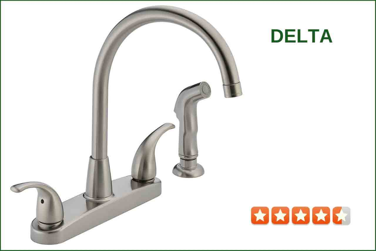 Delta P299578LF-SS Two Handle Kitchen Faucet