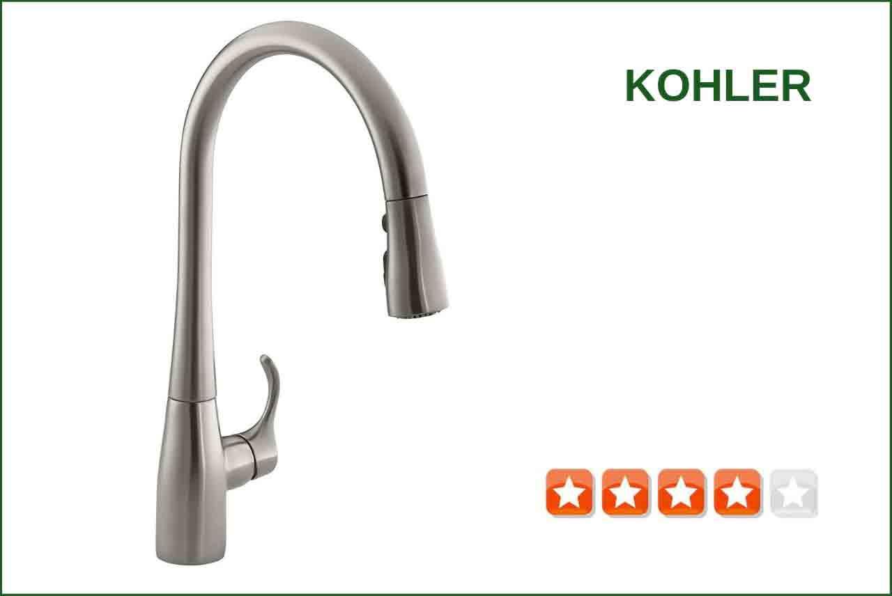 Kohler K-596-VS Pull-down Kitchen Faucet