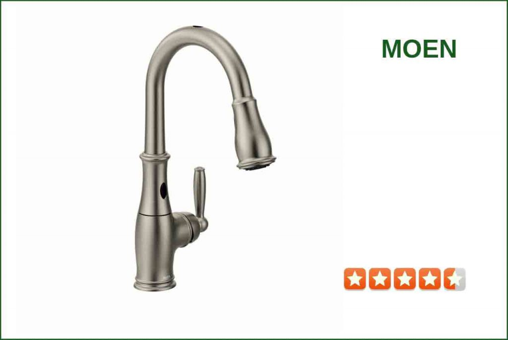 Moen 7185ESRS Touchless Kitchen Faucet