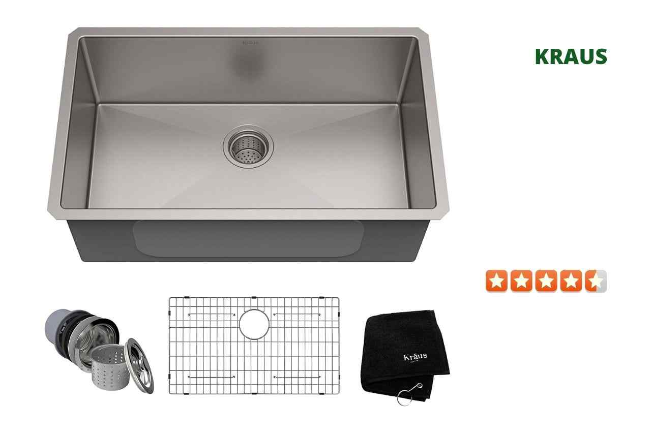 Kraus KHU100-30 Single Bowl Kitchen Sink