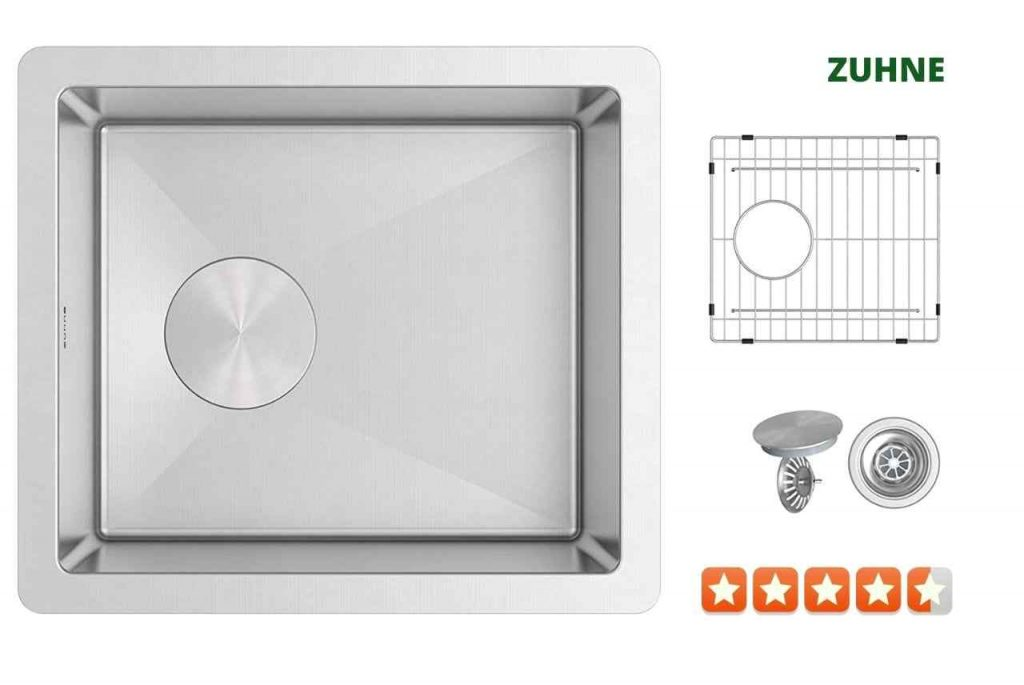 Zuhne PM-HOBZ-4YRY Single Bowl Kitchen Sink