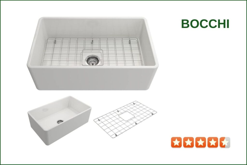 BOCCHI 1138-001-0120 Farmhouse Sink