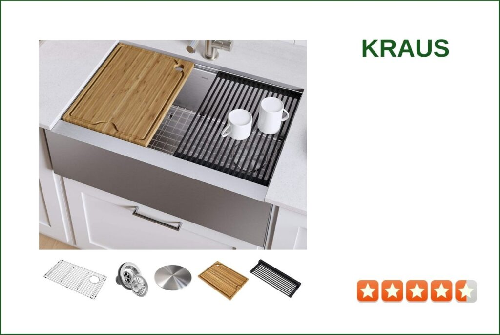 KRAUS KWF410-33 Farmhouse workstation