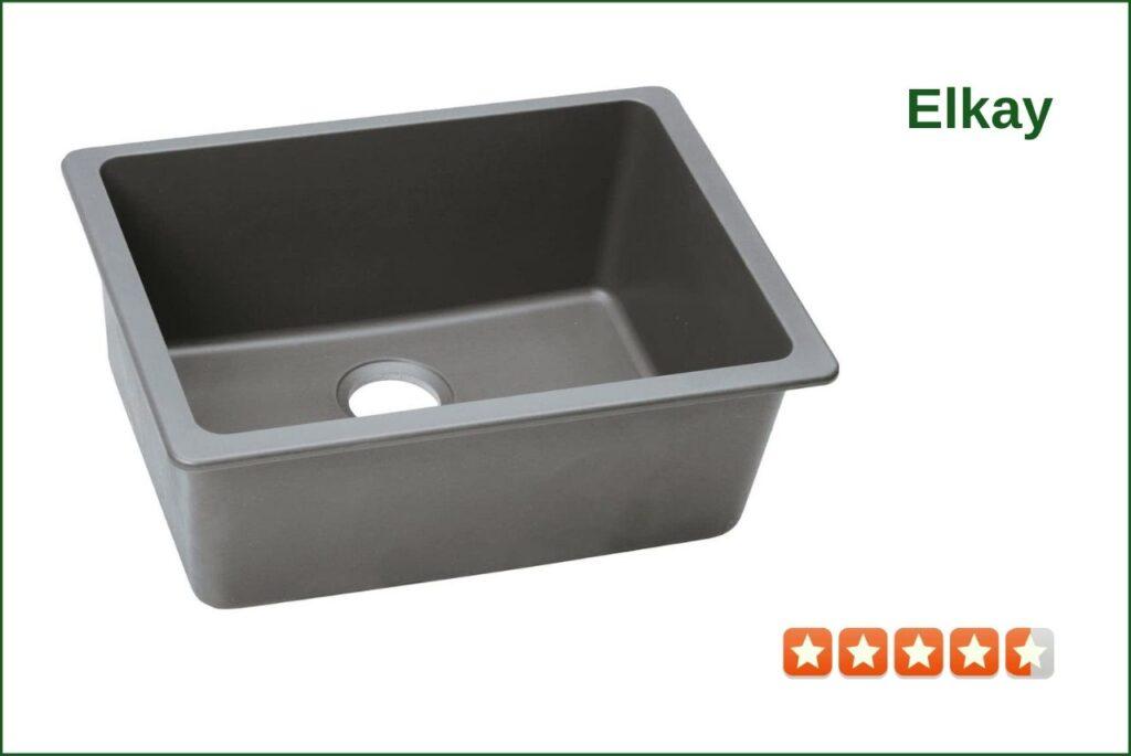 Elkay Quartz Classic ELGU2522GS0 Granite Composite Sink For 30 Inch Cabinet
