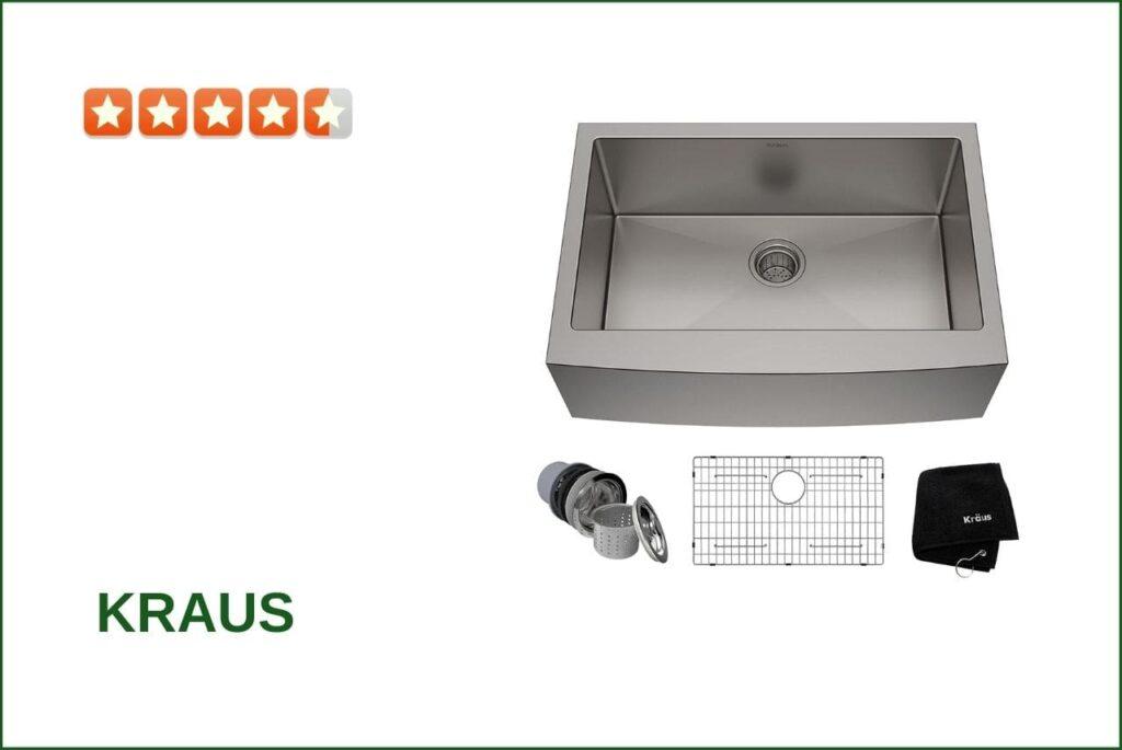 Kraus KHF200-30 single Bowl Sink For 30 Cabinet