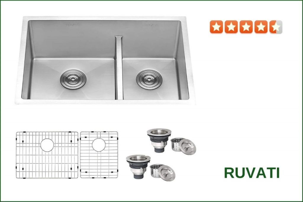 Ruvati RVH7255 Double Bowl Sink For 30 Inch Cabinet