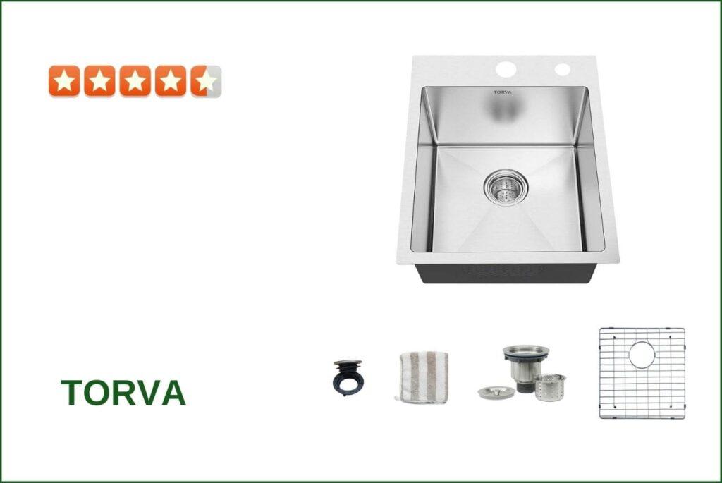 TORVA TS1818R9-075R000 30 Inch Drop-In Kitchen Sink