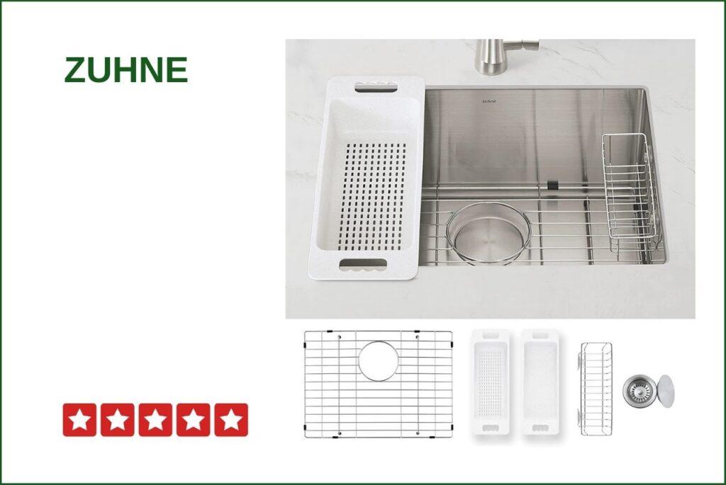 ZUHNE Modena 23 Undermount Sink For 30 Inch Base Cabinet